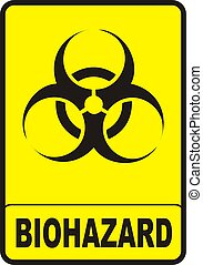 Biohazard Sign - vectorial image biohazard warning color...