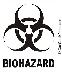 Biohazard Black Sign - vectorial image biohazard warning...
