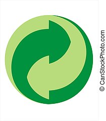 Der Grune Punkt Recycle Sign - recycle sign with green color...