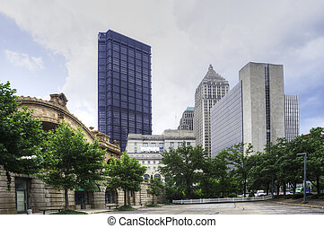Downtown Pittsburgh with Trees