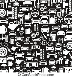 Car a background3 - Background made of cars. A vector...