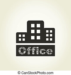 Office - Architectural building of office. A vector...