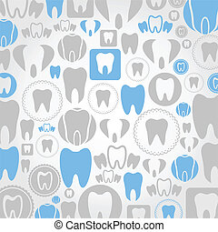 Tooth a background - Background made of a teeth. A vector...