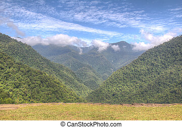 View from main tarrace of Ciudad Perdida archeological site...