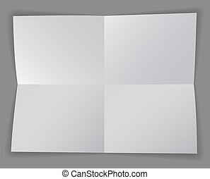 Four sections - Blank paper divided into four sections