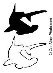 poisson-marteau, requin