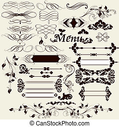 Collection of calligraphic desig - Vector set of...