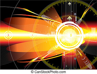 Red Space - Vector file of energy space concept background.
