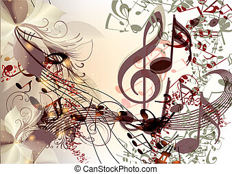 Creative music background in psyche - Creative music...