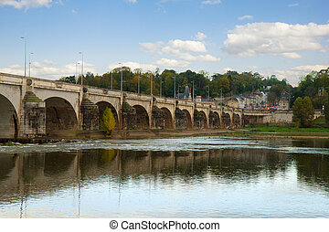 Pont Wilson, Tours, France - old roman Pont Wilson, Tours,...