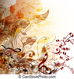 Music grunge futuristic background for your design -...