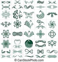 Elements collection - vector file of design elements more...