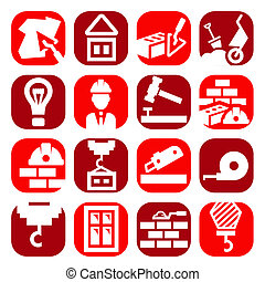 color construction icons set - Color Construction And Repair...