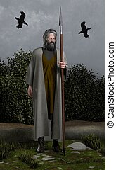 Odin the Allfather - Odin the Wanderer, Allfather of the...