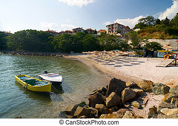 beach on the Black Sea in Bulgaria, Nesebar