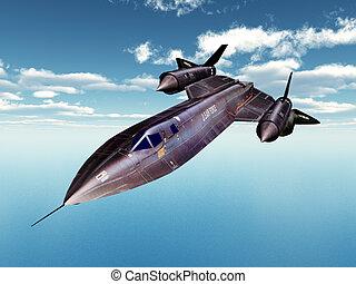Reconnaissance Aircraft SR-71 - Computer generated 3D...