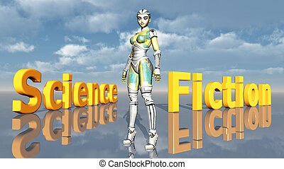 Science Fiction - Computer generated 3D illustration with...
