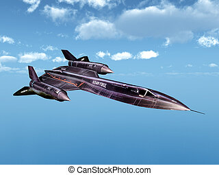 Reconnaissance Aircraft SR-71 - Computer generated 3D...