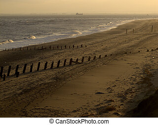 Beach, Spurn Point, East Yorkshire, November 2011