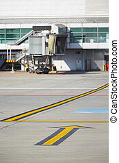 Terminal - Marking on taxiway is heading to gate - selective...