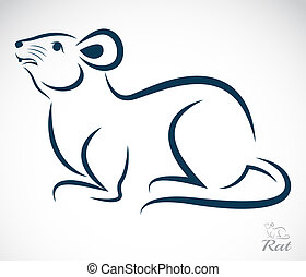 Vector image of an rat