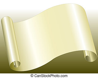 Paper Bended - Vector file of yellow color paper bended