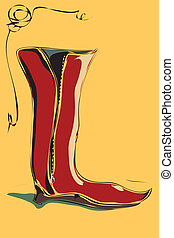 riding boot - The vector illustration - riding boot