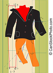 clothes - The vector illustration - clothes