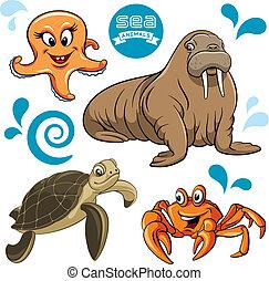 Sea Animals - Vector set of sea animals