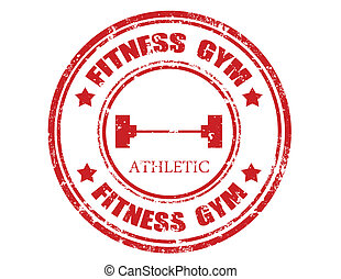 Fitness gym-stamp - Grunge rubber stamp with text Fitness...