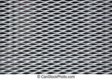 metallic grid backgorund - horizontal background of aluminum...
