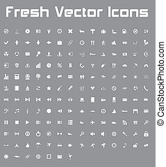 Fresh Vector Icons (light version) - This is a nice, simple...