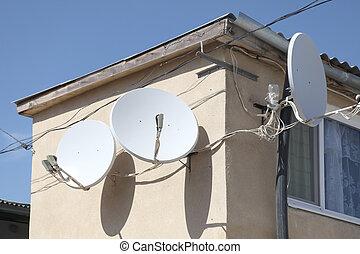 Aerials - Receiving aerials of satellite television