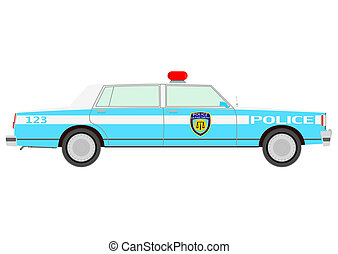 Police car - Retro police car.