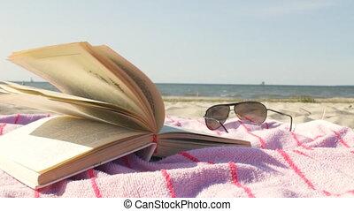 Reading on the Sunny Beach