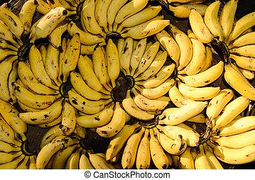 bananas, mercado, venda