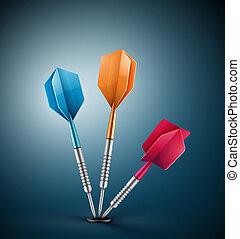 Three darts - three darts at target, eps 10