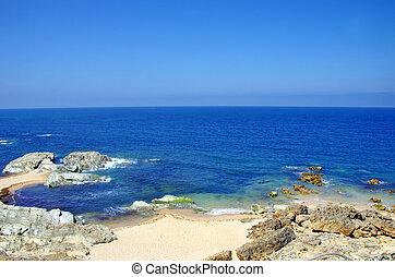 Blue sea and rocks, Porto Covo, Portugal