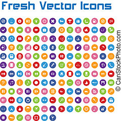 Fresh Vector Icons (circle version - This is a nice, simple...