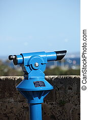 Tourist viewing telescope - Blue metal monocular tourist...