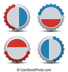 Bottle caps - Vector illustration of bottle caps