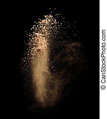 make-up powder - Isolated make-up powder on black background