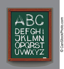 Alphabet Hand drawn Vector eps 10 - Vector Set: Three...