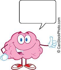 Happy Brain Witch Speech Bubble - Happy Brain Character...