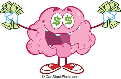 Money Loving Brain Character
