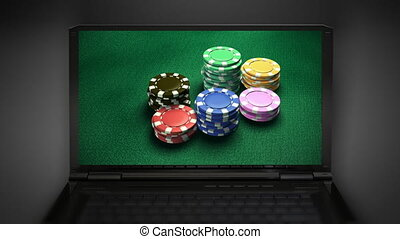 Casino 6 of chips - casino clips falling at notebook...