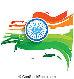 wave style indian flag - stylish wave indian flag vector...
