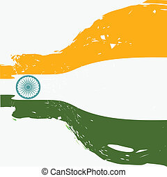 beautiful indian flag design