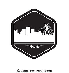 brazil stamp - special brazil stamp on white bakcground