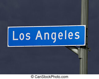 Los Angeles Street Sign Storm